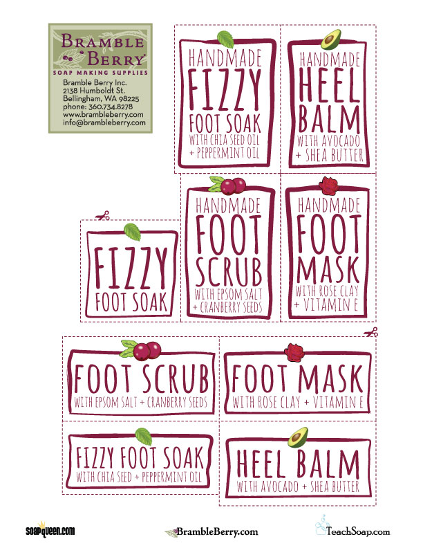 Home Pedicure Labels ~ Free Download