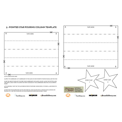 5-Pointed Star Column Template