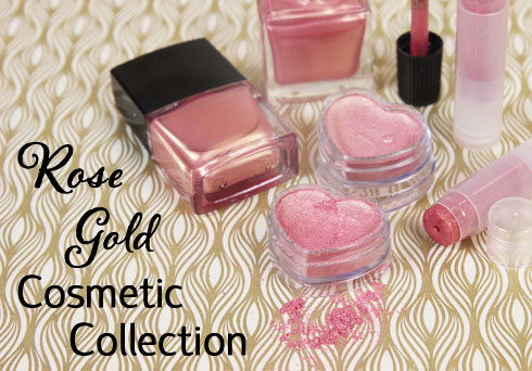 Rose Gold Cosmetic Collection