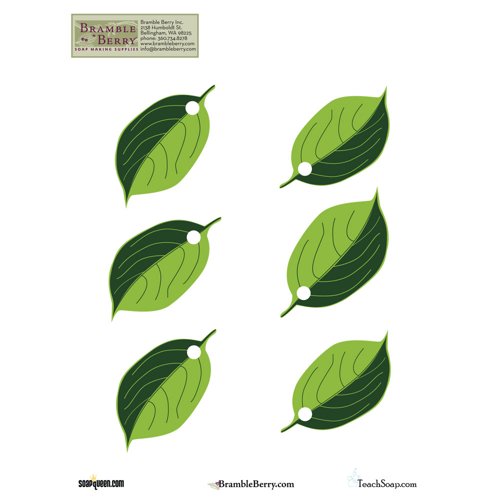 Apple Leaves Template, Free Download