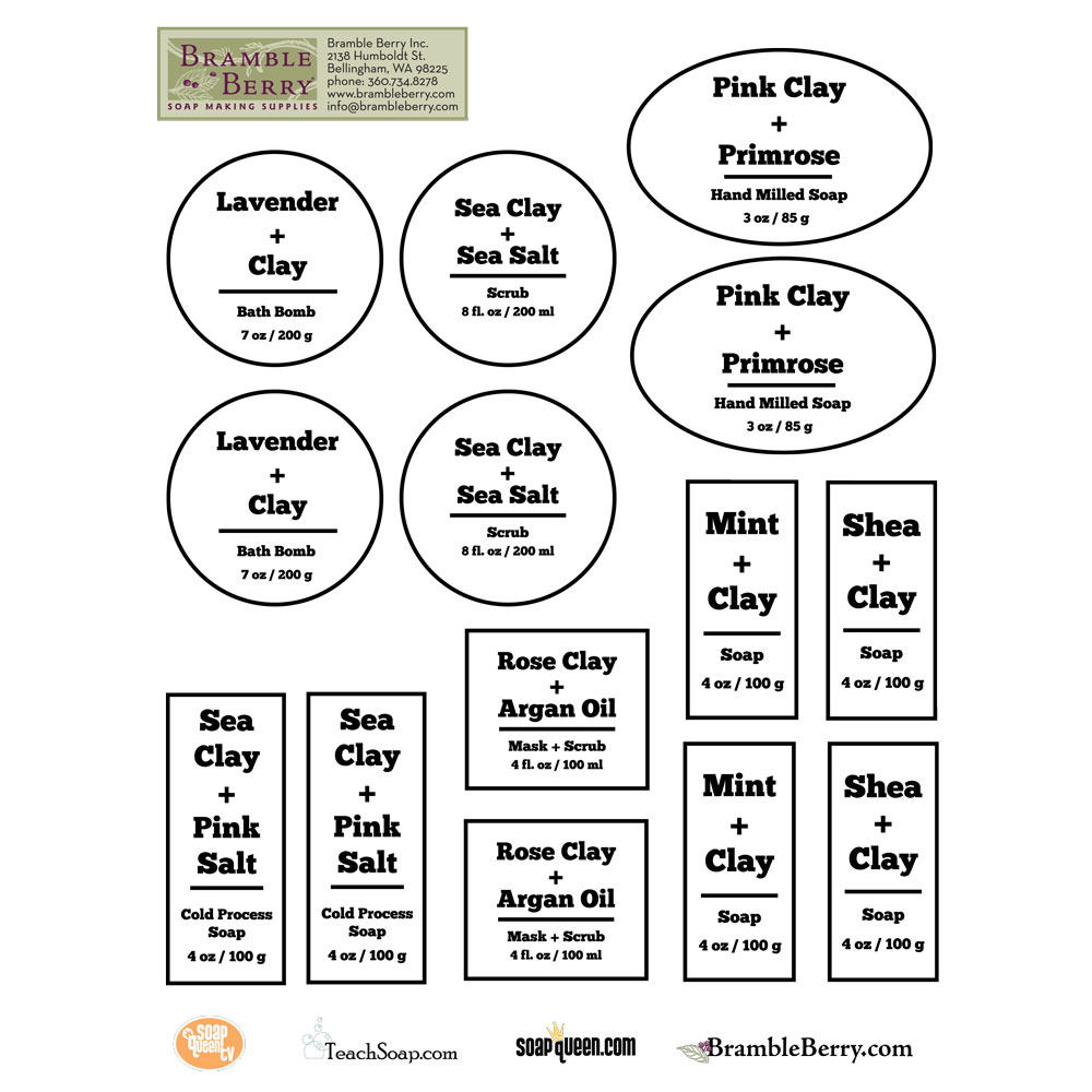Cleansing Clay Label Template, downloadable PDF
