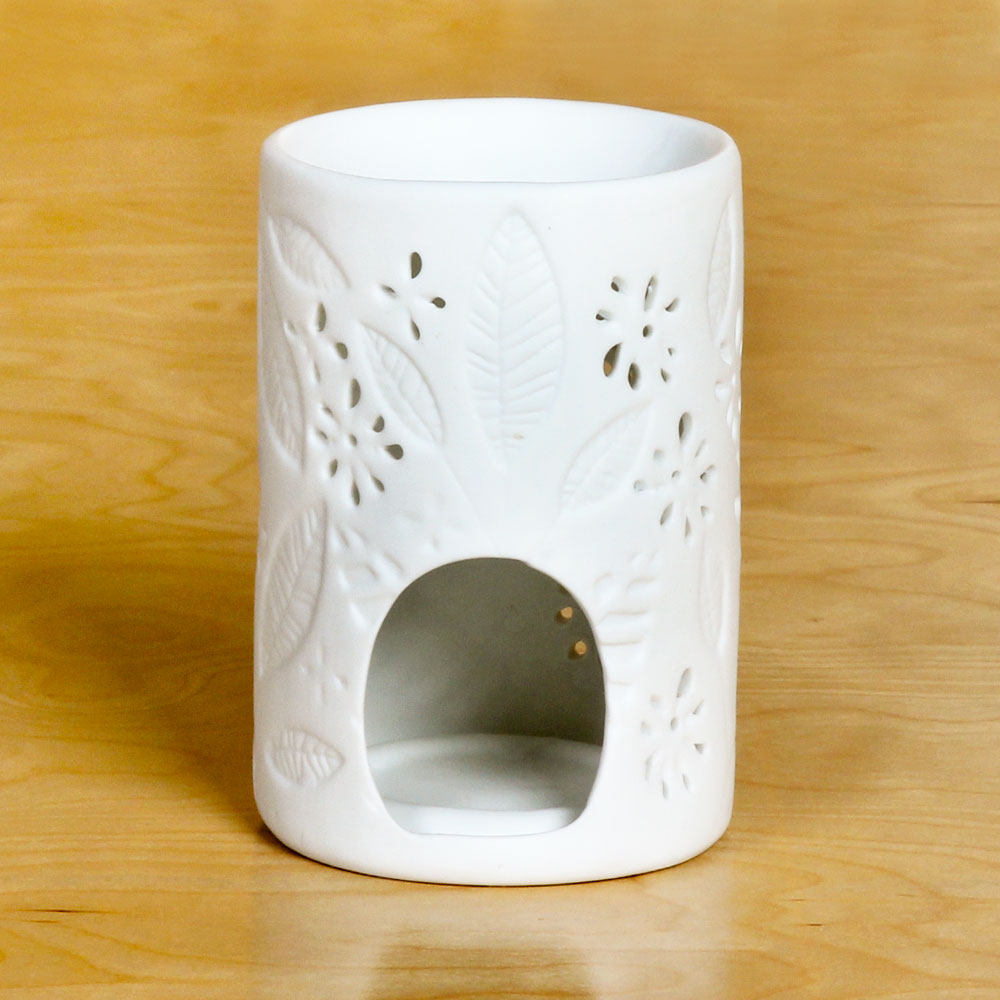 White Leaves Tealight Warmer