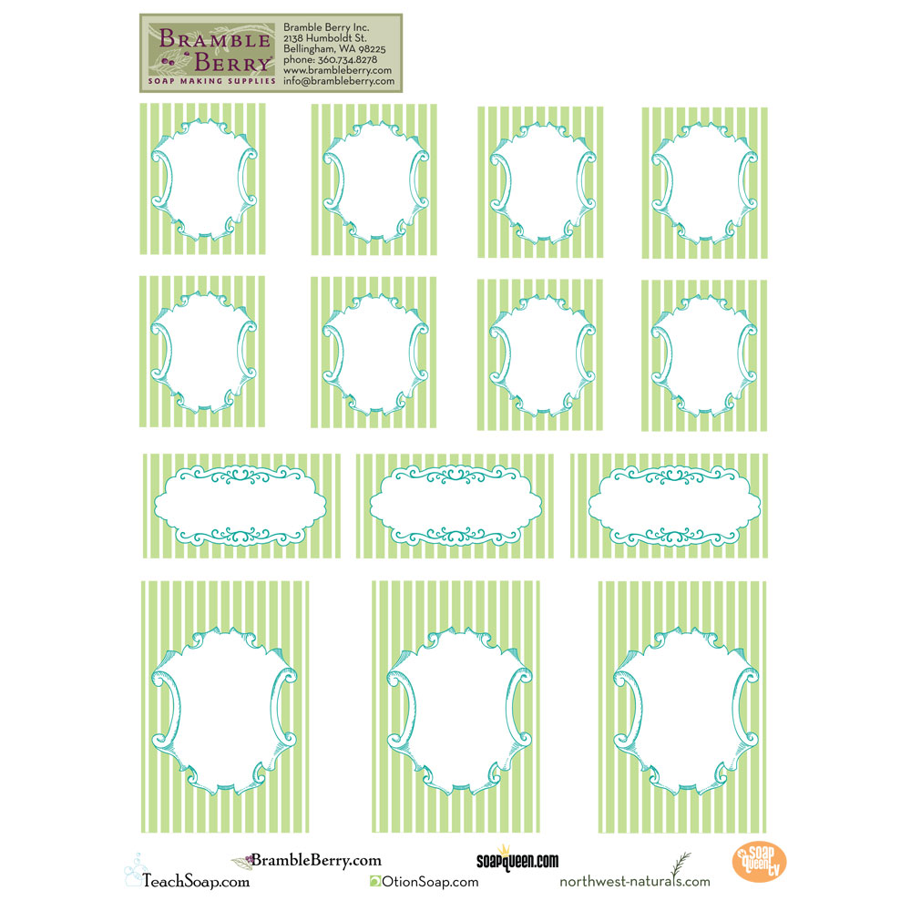 Natural Cleaning Labels Templates