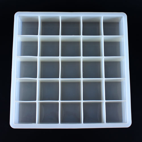 25 Cube Silicone Soap Mold, Top View