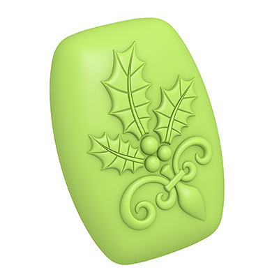 Holiday Holly 3D Mold