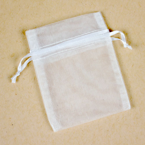 White Organza Bag Small
