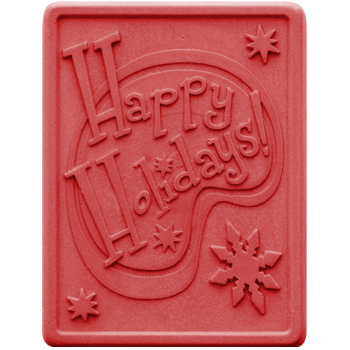 Happy Holidays Soap Mold