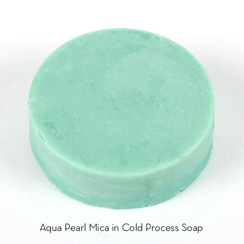 Aqua Pearl Mica in Cold Process Soap