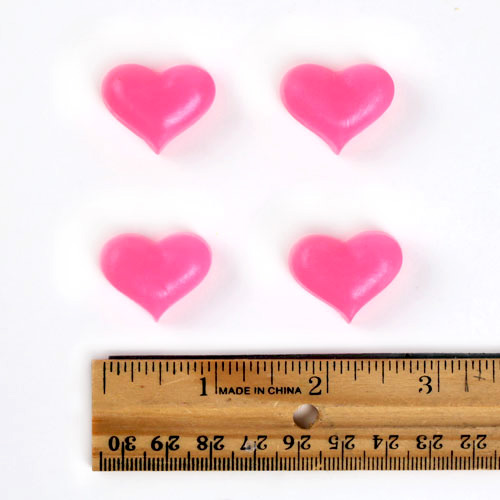 Tiny Hearts Mold with ruler