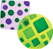 Tropicla Purple and Green Apple Squares and Circles soaps