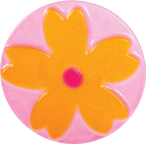 Yellow and Pink Mod Flower Soap