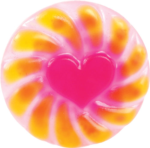 Yellow and Pink Radiant Heart