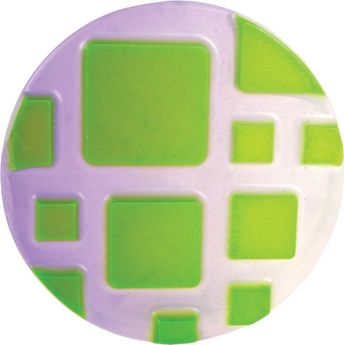 Retro Squares mold with Green Apple and Tropicla purple LabColors