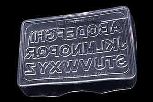 Flexible Alphabet Embeddable Mold