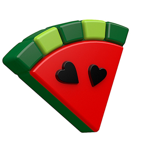 Guest Mini Watermelon & Hearts Mold