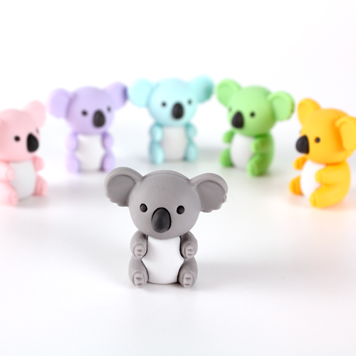 Koala eraser toys perfectign for embedding in soap