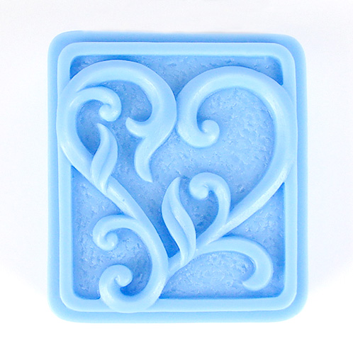 Kudos Texture Heart Silicone Mold