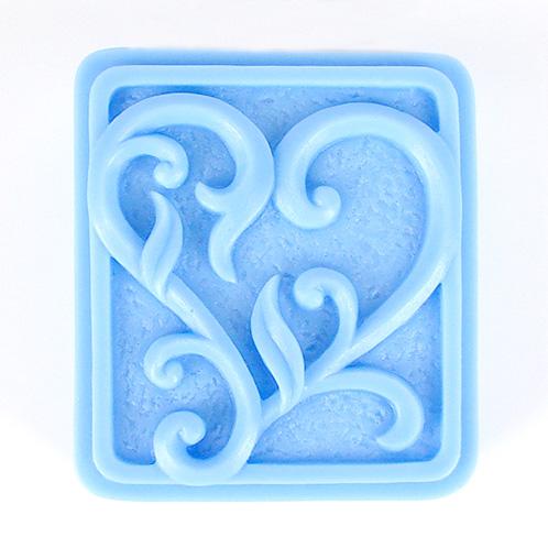 Kudos Texture Heart Silicone Mold
