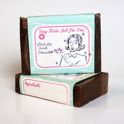 Givember Soap Label, Minty Green Downloadable File