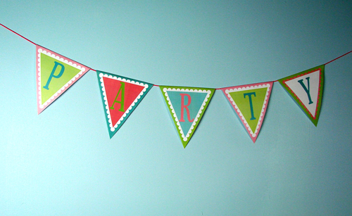 Free Pennant Banner Clipart - downloadable PDF