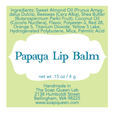 Lip Balm Label