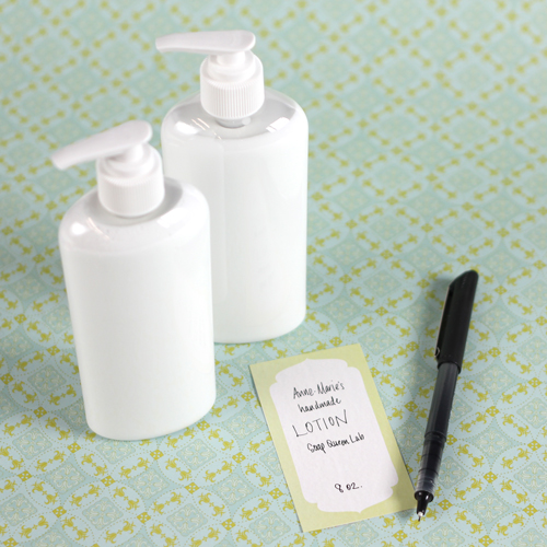 Lotion Label Template - Free Downloadable file