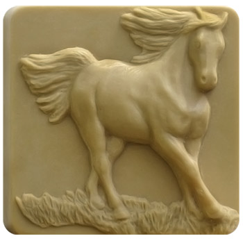 Running Horses Soap Mold
