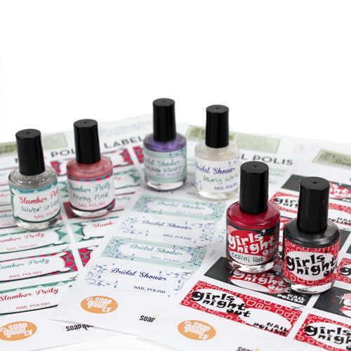 Nail Polish Labels Free Downloadable PDF