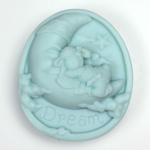 Kudos Dreaming Sheep on Moon Silicone Mold