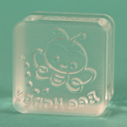 Actual Bee Happy stamp