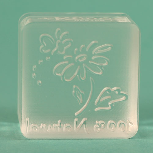 Actual Flower & Butterfly Soap Stamp