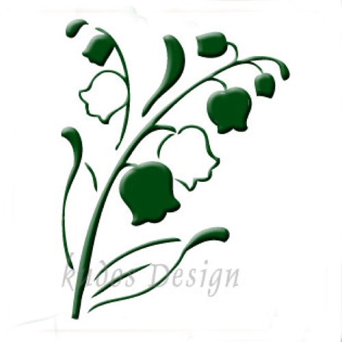 Lily of the Valley Acrylic Soap Stamp