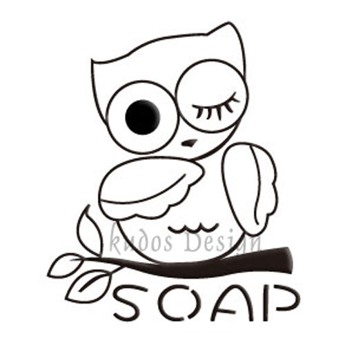 Owl Soap Stamp