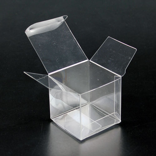 Cube Box, Clear Plastic