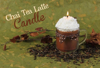 Make your own chai tea latte candle