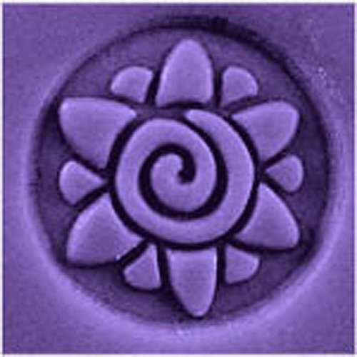Spiral Flower Stamp
