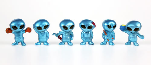 Alien Figurines, 4 Aliens