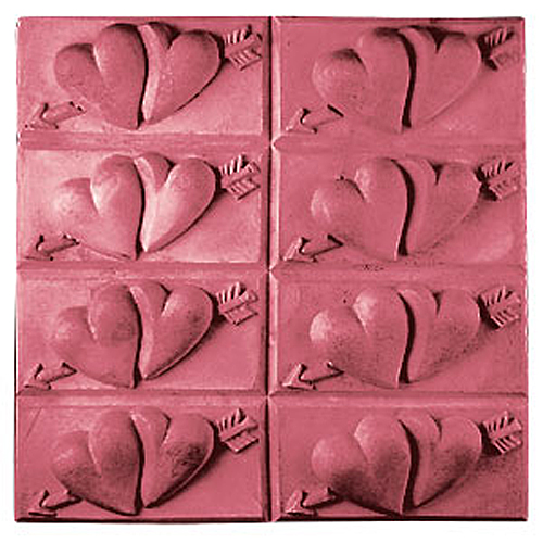 Tray Of Hearts Mold