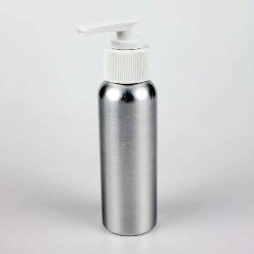Brushed Aluminum Bottle (2 oz with Pump)