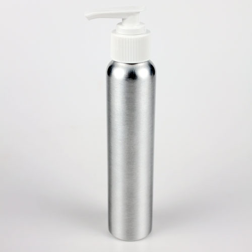 Brushed Aluminum Bottle (4 oz with Pump)
