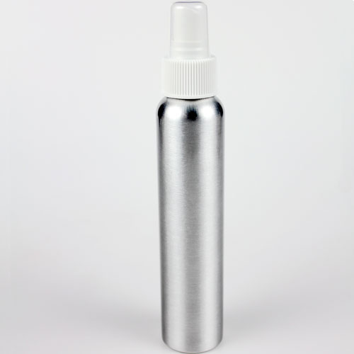 Brushed Aluminum Bottle (4 oz with Spray top)