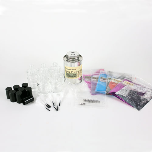 Glittery and Bright Nail Polish Kit