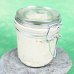 Our Glass Bail Jars are stylish and sturdy for all your bath products