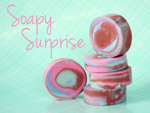 Cold Process Soap with a striking Swirl