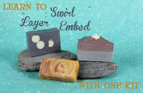 Make 3 differetn styles of soap wiith one Kit