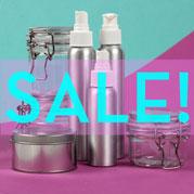 Sizzling Summer Hair Bottles, Jars, & Tins Sale