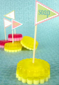 Make flags and banners for your next soapy celebration