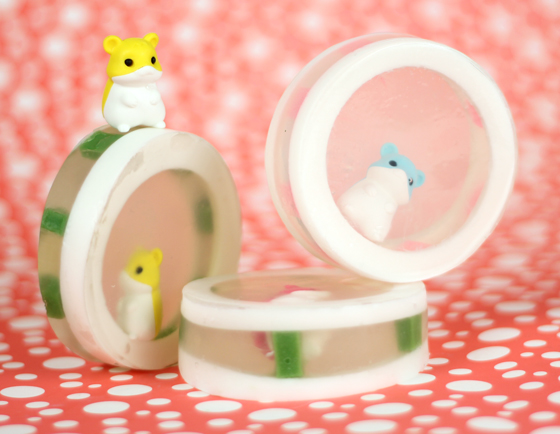 Cute Hamster ERasers in soap