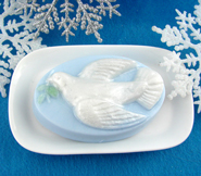 Christmas Dove Soap