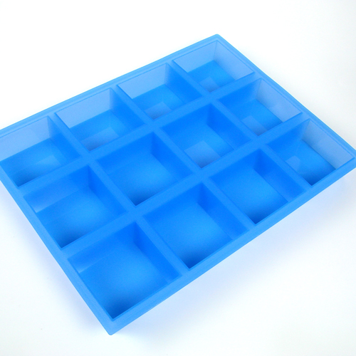 12 Bar Square Silicone Mold
